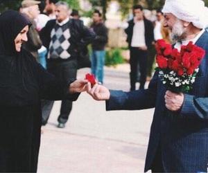 love, flowers, and muslim image
