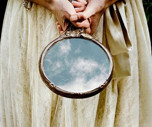 mirror, sky, and photography image