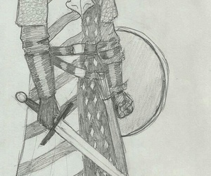 drawing, knight, and horace altman image