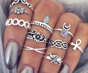 accesories, nails, and rings image