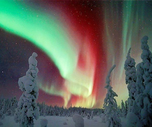finland, snow, and light image