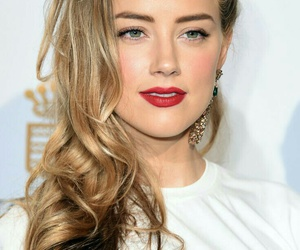 blonde, amber heard, and beauty image