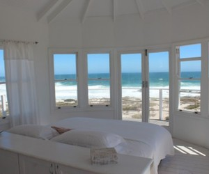 beach, bed, and house image