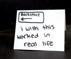 backspace and text image