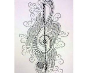 arte, zentangle art, and musica image