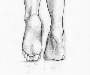 art, feet, and drawings image
