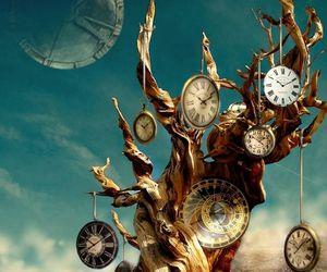 art, clocks, and time image