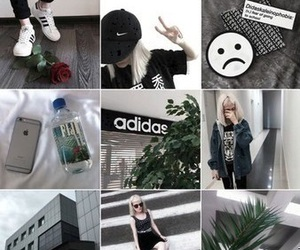 adidas, alternative, and black and white image