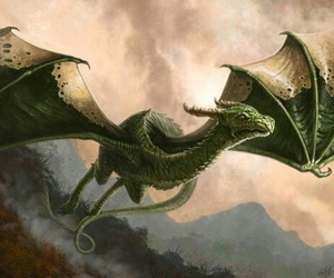dragon, art, and green image