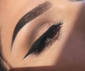 eyebrows, eyelashes, and eyeliner image