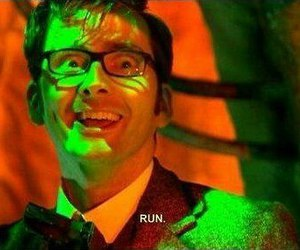 doctor who, david tennant, and run image