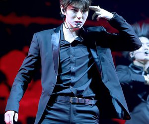 black suit, handsome, and Leo image