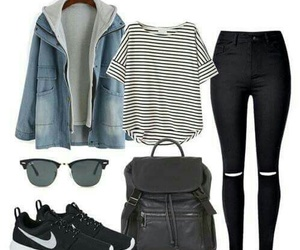 outfit, nike, and Polyvore image
