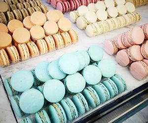 food, macaroons, and summer image