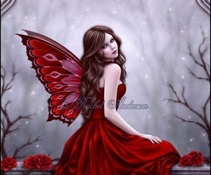 fairy, red, and fantasy image