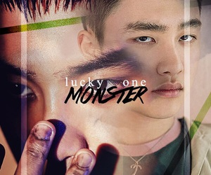 exo, kyungsoo, and monster image