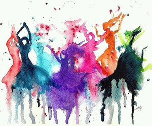 art, dance, and colors image