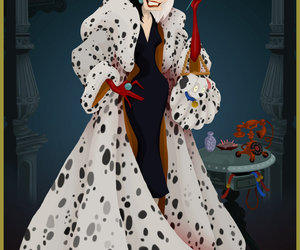 disney, cruella, and cruella de vil image