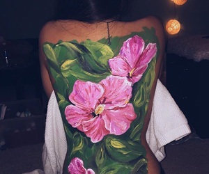 flowers, back painting, and art image