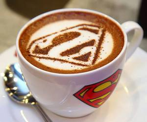 coffee and superman image