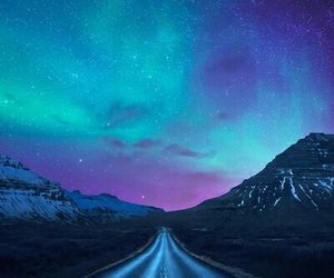 sky, road, and stars image