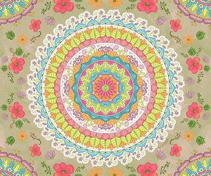 circular, flowers, and mandala image