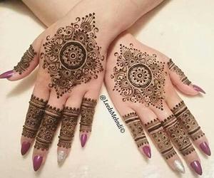 mehndi and nails image