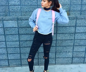 maggie lindemann, outfit, and vans image