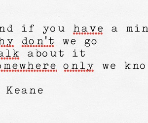 beautiful, keane, and quote image