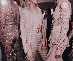 model, fashion, and Balmain image