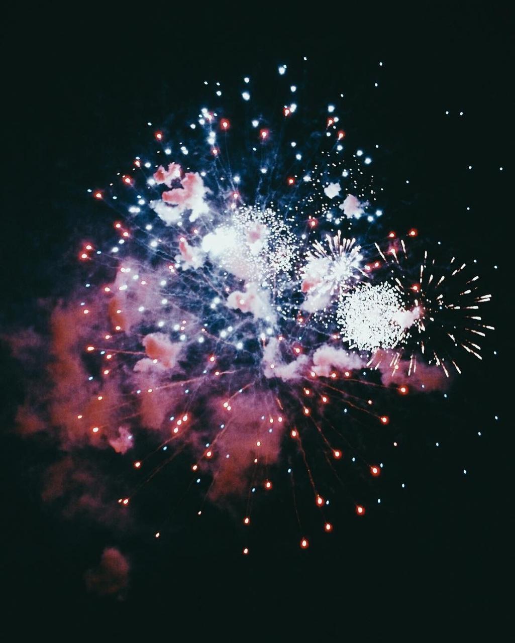 fireworks, night, and grunge image