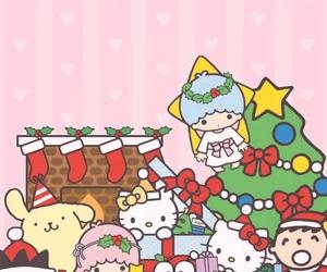 christmas, tree, and pom pom purin image