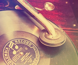 music, vintage, and record image