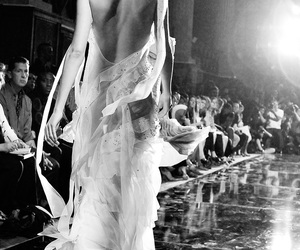 black and white, fashion, and John Galliano image