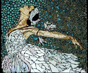 ballerina, art, and mosaic image