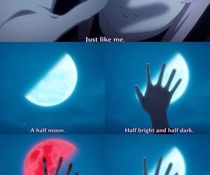 anime, mirai nikki, and moon image
