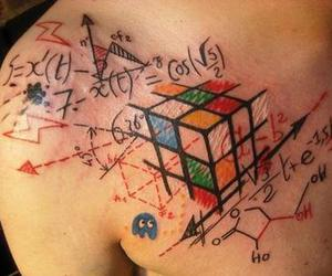 tattoo, math, and tatoo image