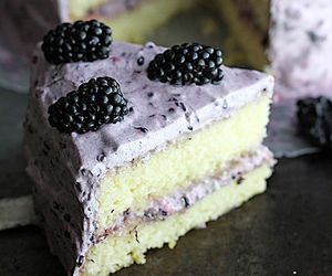 cake, food, and blackberry image