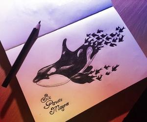 art, sea, and draw image