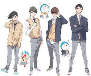cool, doraemon, and anime boy image