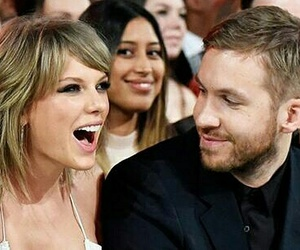 calvin harris, couple, and Taylor Swift image