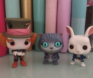 alice in wonderland, Cheshire cat, and mad hatter image