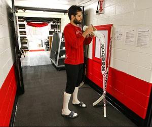 hockey, stick, and corey crawford image