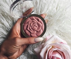 makeup, rose, and pink image