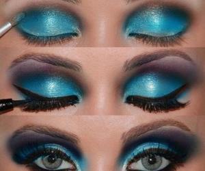 blue, eyes, and make up image