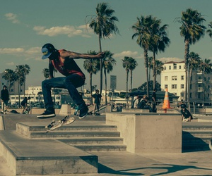 skate, summer, and sun image