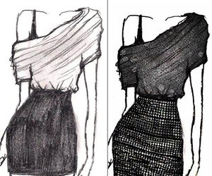 fashion, drawing, and dress image