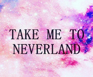neverland, galaxy, and pink image