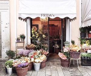 flowers, shop, and rose image