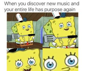funny, spongebob, and music image